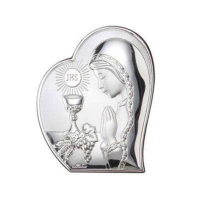 Kommuniongeschenk Fur Madchen Silber Bild Zur Erstkommunion Valenti