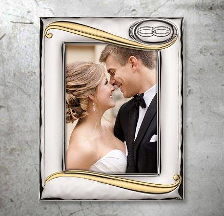 Geschenk aus Hochzeit oder Jubiläum - Versilberte Rahmen für Foto - Valenti