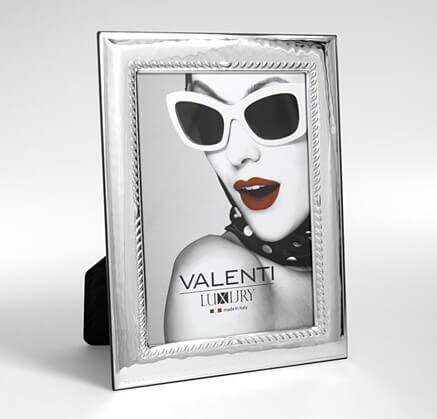 Versilberte Rahmen für Foto - Valenti