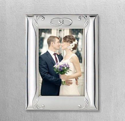 Versilberte Rahmen für Foto - Hochzeit und Hochzeitsjubiläum Andenken