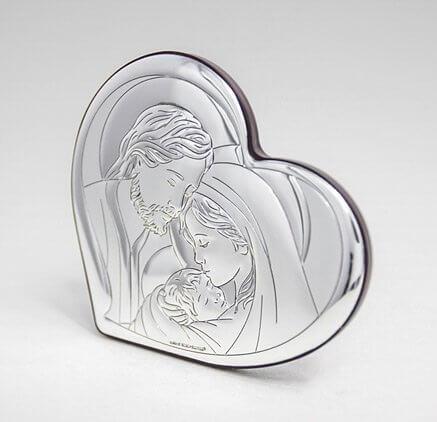 Silber Heiligenbild - Andenken zur Hochzeit