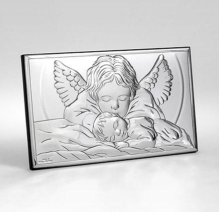 Silber Bild zur Taufe Valenti