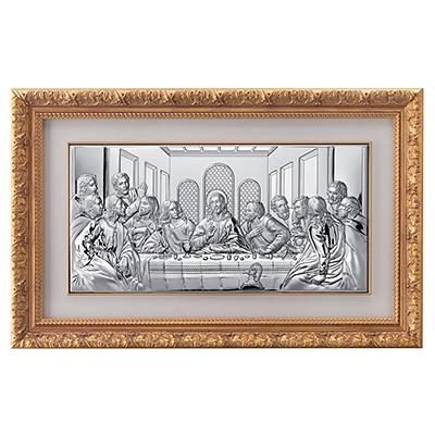Letzte Abendmahl Heiligenbild in Rahmen