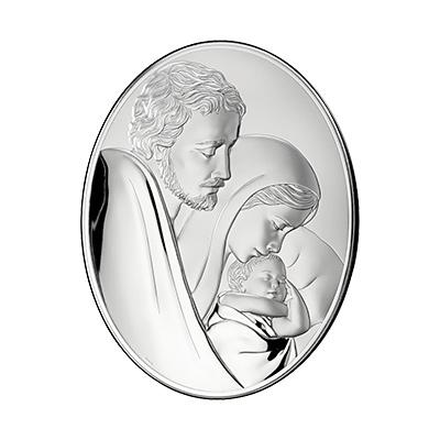 Heilige Familie Versilbertes Bild