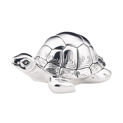 Schildkröte Figur Versilberte