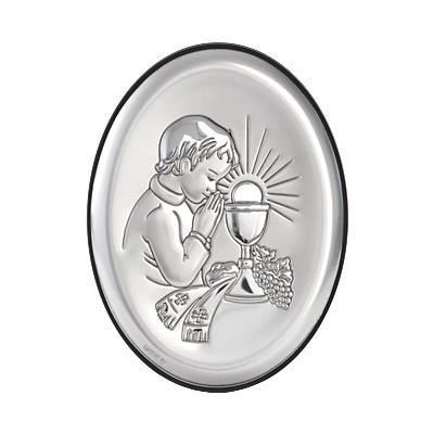 Kommuniongeschenk für Junge Silber Bild zur Erstkommunion