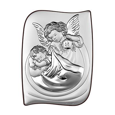 Silberbild mit Engel zur Taufe Geschenk zur Taufe