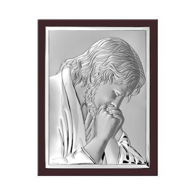 Jesus Christus Silber Heiligenbild