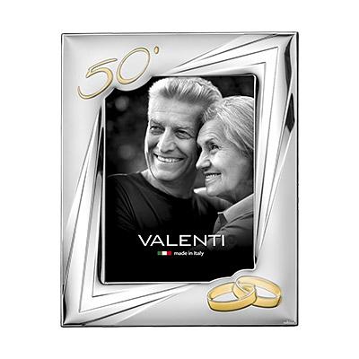 Silber Fotorahmen Valenti Geschenk zur Goldenen Hochzeit