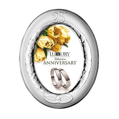 Silber Fotorahmen Valenti Geschenk zur Silberhochzeit