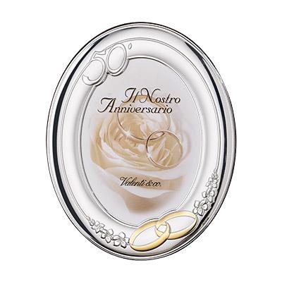 Silber Fotorahmen Valenti Geschenk zur 50 Hochzeit