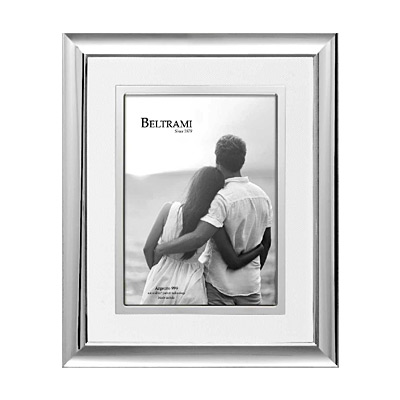 Silber Fotorahmen mit Passepartout
