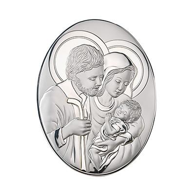 Heilige Familie zur Hochzeit Silber Bild