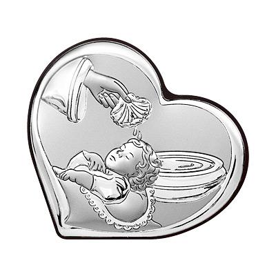 Silber Bild zur Taufe Taufgeschenk für Patenkind