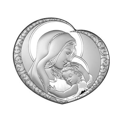 Silber Bild Maria mit Kind Geschenk zur Hochzeit