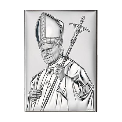 Papst Johannes Paul Versilbertes Bild
