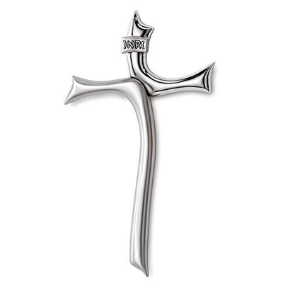 Moderner Kreuz mit Silberbeschichtung