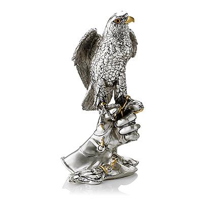 Adlerfigur mit Silberbeschichtung