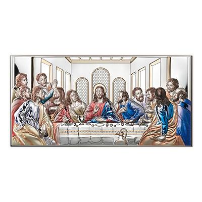 Letzte Abendmahl Versilbertes Bild
